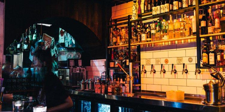 The bar at Heya Bar Brisbane