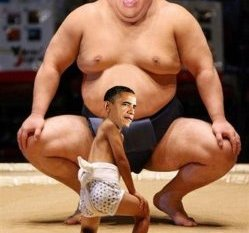 Chris Christie as a Sumo Wrestler