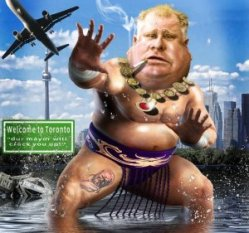 Rob Ford the Giant Sumo Wrestler