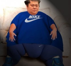 Sumo Wrestler in a Nike T-Shirt